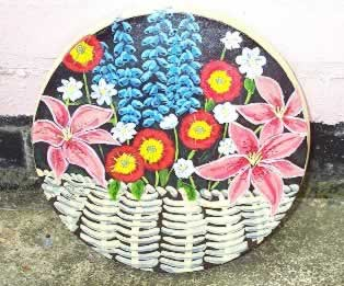 Painted basket